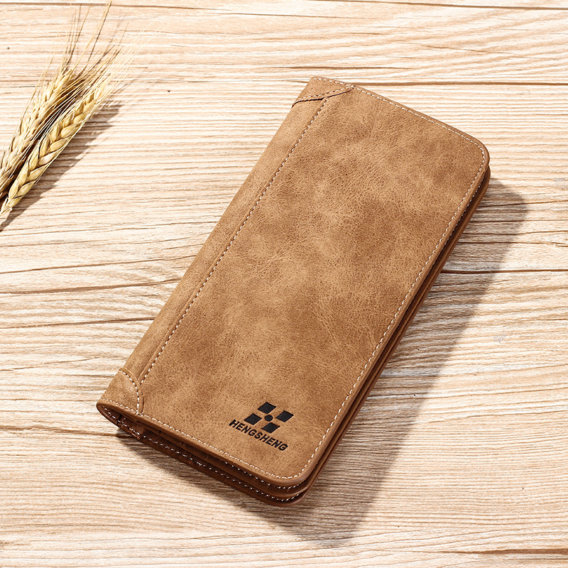 Men Vintage Wallets Luxury Brand Long Men Purses Male Clutch PU Leather Wallet Man Business Style Cards holders Male Coin purs