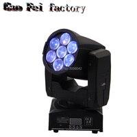 Диско dj Освещение зум мыть 7*15 Вт RGBW 4in1 светодио дный LED цвет смешивания мини перемещение головы