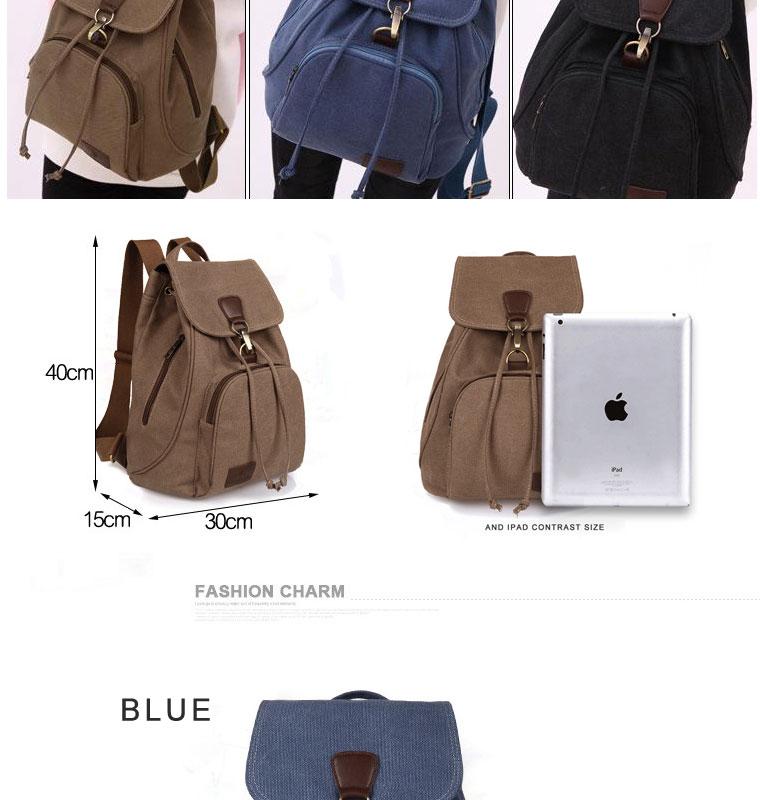 HTB1. CkaozrK1RjSspmq6AOdFXaU Woman canvas backpacks female vintage bag fashion backpacks for teenage girls retro College student school bags fabric knapsack