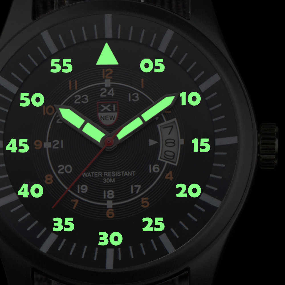 2018 Best Sell Watch Men Military Quartz Army Watches Black Dial Date Luxury Sport WristWatch relogio masculino erkek kol saati