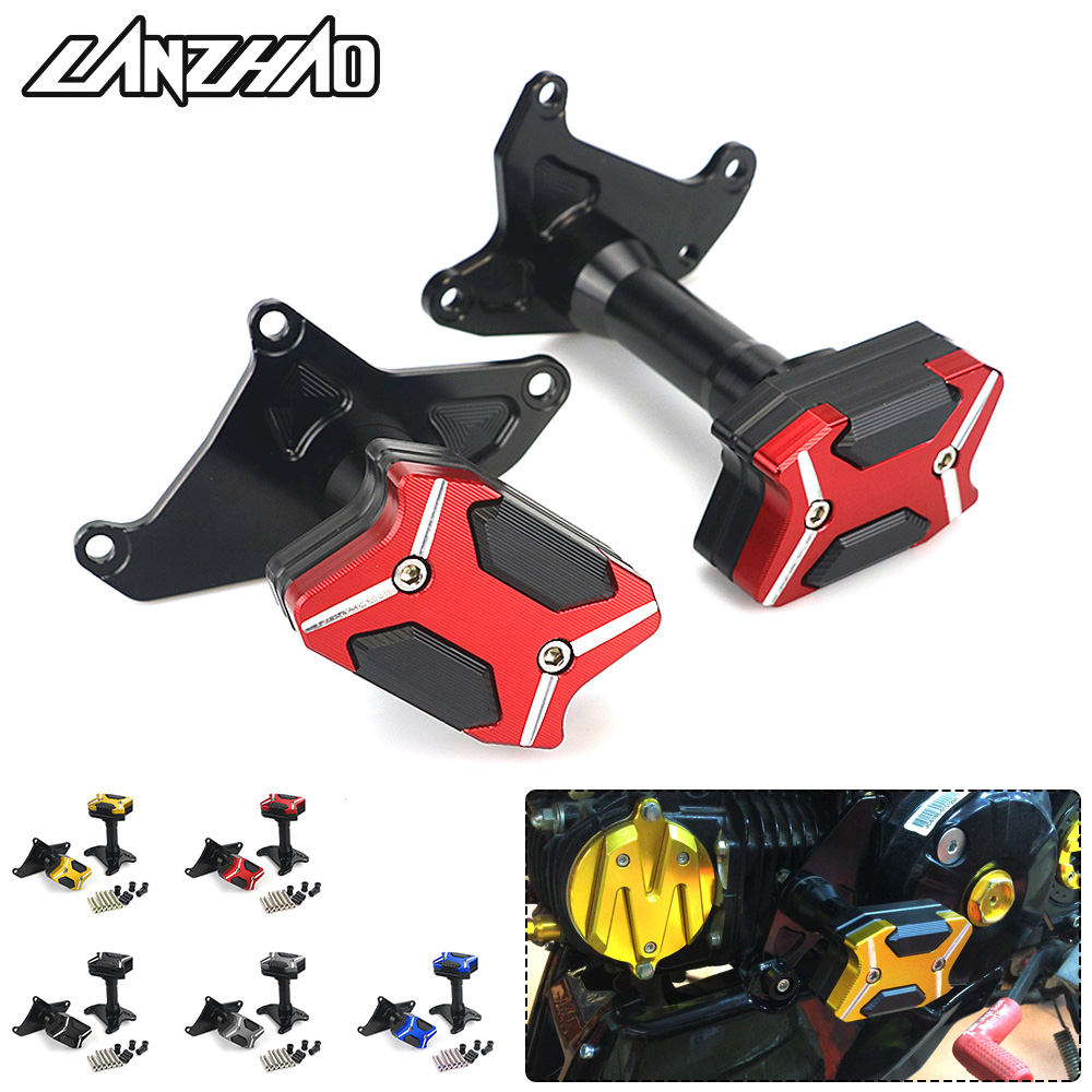 US $24 99  Motorcycle Frame Sliders Crash Pads CNC Aluminum Accessories for  Honda GROM MSX125 MSX125SF 2013 2014 2015 2016 2017 2018-in Covers &