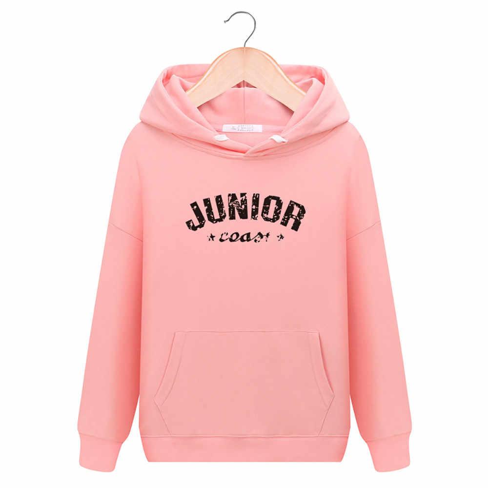 Женская однотонная повседневная с буквенным принтом, модный свитер с капюшоном для тренировок и фитнеса, свободная дышащая спортивная куртка