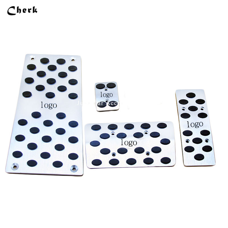 For Toyota Highlander 2007-2015 Car Pedal Pads Cover Car Fuel Brake Stickers Styling Plates