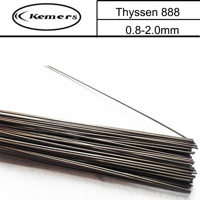 1KG/Pack Kemers TIG Welding Wire Thyssen 888 for Welders High Quality Welding Wires (0.8/1.0/1.2/2.0mm) Made in Germany W115 ce248 67901 compatible adf maintenance kit separation pad assembly for hp 4555 4540 m4555 m4540 printer