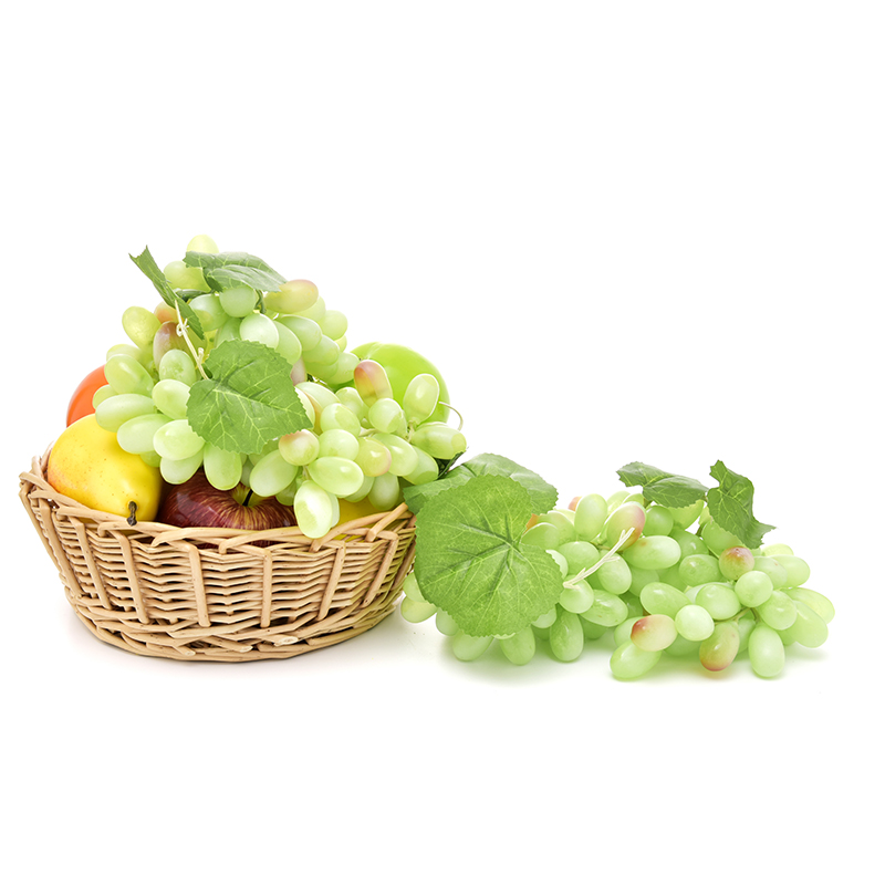 New Simulation Fruits PU 110 Grain Grapes Kitchen Toys for Children Kids Pretend Play Toys Home Wedding Party Garden Decor