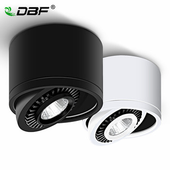 LED Surface Mounted Ceiling Light 5W 7W 9W 15W Dimmable Ceiling Lamp 360 Degree Rotatable COB Background Spot Light For Home artpad modern 7w black ceiling surface mounted light cob led 360 degree rotatable spotlights living room coffee cloth shop led
