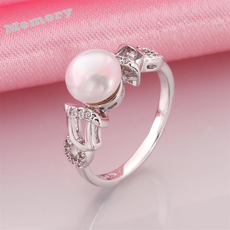 Fresh Pink Pearl Wedding Rings – Wedding