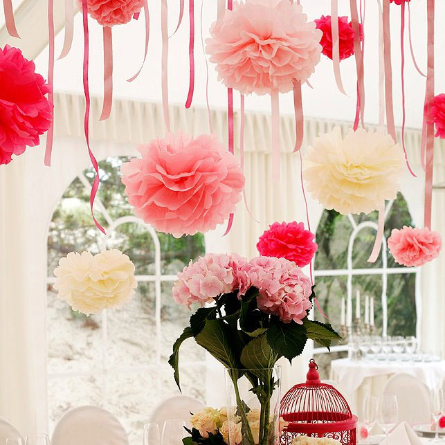 Hot seller5pcs 8 inches20cm hanging tissue pompoms and paper hot seller5pcs 8 inches20cm hanging tissue pompoms and paper flower balls for wedding party decoration and more in artificial dried flowers from home mightylinksfo