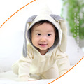 Autumn And Winter Rompers With Rabit Ears Hood Long Sleeves Baby Girls Overall Soft Cotton Clothing Baby Pajamas Infant Clothes