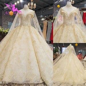 Image 2 - Aijingyu princesa vestidos de casamento sexy pêssego recepção glitter vestido de casamento curto