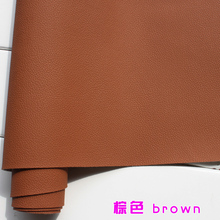 Brown 1mm Thick Leather Faux Leather Fabric Car Interior Leather Car Seats Leather  Cushion Upholstery Sold BTY