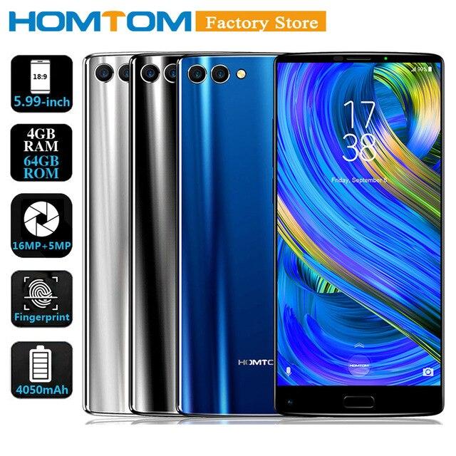 "HOMTOM S9 Plus 5.99"" 18:9 HD+ IPS Mobile Phone 4G Smartphone 4GB+64GB MTK6750T Octa Core Front 13MP Back Dual 5+16MP Cam 4050mAh"