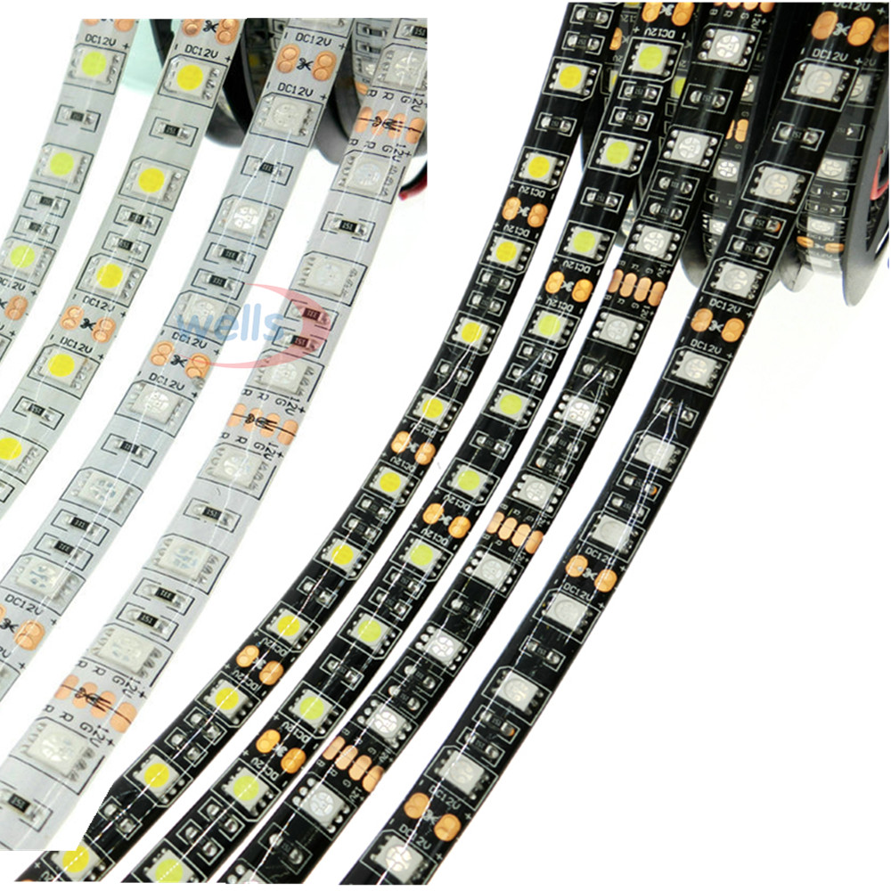 5M 5050 DC12V 60LEDs/m 5m/lot Flexible LED Light RGB 5050 LED Strip String Ribbon Tape Lamp Home Decoration Lamp