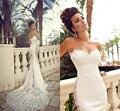 Элегантный Милая Сексуальная See Through Невесты Старинные Кружева Свадебные Платья 2016 Новые Поступления Vestido де noiva
