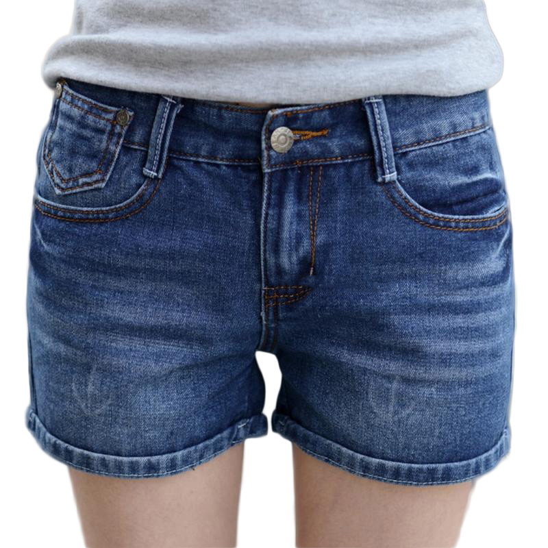 Free shipping summer large size casual short jeans women women jean shorts 2015 cheap denim ...
