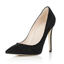 Amourplato Women's Pointed Toe Suede High Heel Pumps Classic Office Party Dress Pump Fashion Solid Spike Heel Shoes