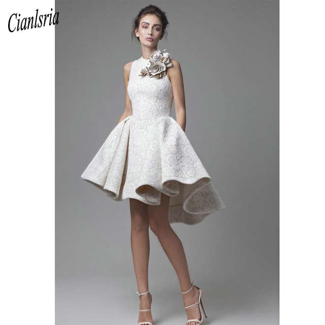 Кружевные короткие свадебные платья Abito Da Sposa, с ... | 640x640