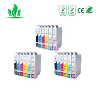 3sets T0821 Compatible Ink Cartridge for Epson Stylus Photo R390 RX590 RX690 R290 RX610 TX800FW TX700W T50 TX650 TX810FW