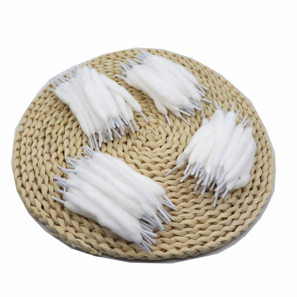 1000pcs Original YUHETEC 100MM Shoelace Cotton Thread for Electronic Cigarette WHITE 100MM 1000PCS LOT
