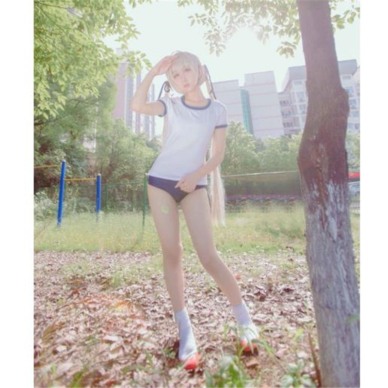 BOOCRE Anime In solitude Where We Are Least Alone Cosplay Kasugano Sora Costumes Uniform Gym Suit Women Casual Sportwear