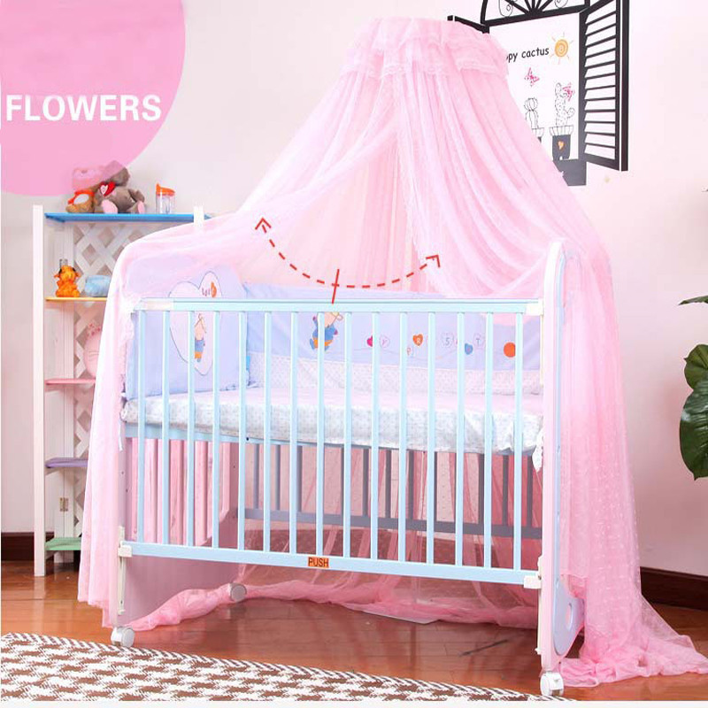 Baby Bed Nets Floor Bow Mosquito Children Princess Bracket  JRR022