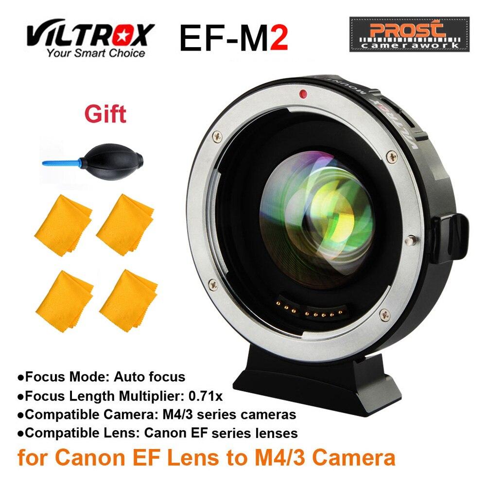 Viltrox EF-M2 AF messa a fuoco Automatica EXIF 0.71X Ridurre La Velocità Booster Adattatori per Obiettivi Fotografici Turbo per Canon EF lens per M43 Macchina Fotografica GH4 GH5 GF6 GF1