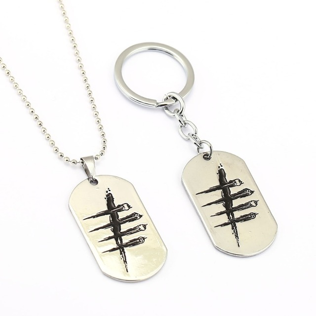 Ms jewelry dead by daylight necklace silver dog tag pendant gift men ms jewelry dead by daylight necklace silver dog tag pendant gift men women game choker accessories aloadofball Images