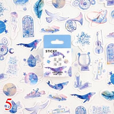 45 шт./кор. канцелярские наклейки парным DIY Планета липкий Бумага Kawaii Луна растения наклейки для украшения дневник в стиле Скрапбукинг - Цвет: Design 20