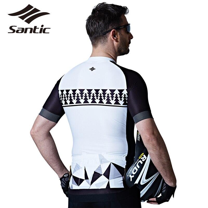 Santic maillot de cyclisme Pro Team vêtements de cyclisme été respirant vtt vélo de descente vêtements hommes sport Jersey Motocross 2017 - 3