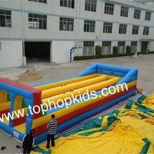 Best цена для надувных банджи Бег/запустить банджи, трюк прыжки надувные игры с тремя линиями с бесплатной доставкой;