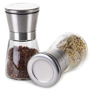 2 шт. нержавеющая сталь стекло ручной перец соль мельница белый шейкер для специй Мясорубка поставщик кухни