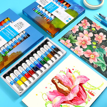 Winsor&Newton 12/18/24Colors Watercolor Paint High Quality Transparent Pigment For Artist School Student Acuarelas