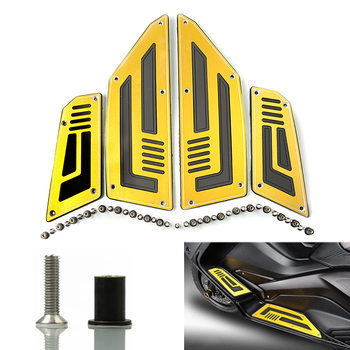 For Yamaha T-Max 530 TMax 530 TMax530 SJ09 2012 2013 2014 2015 2016 Front & Rear Motorcycle Footboard Steps Foot Pegs Plate