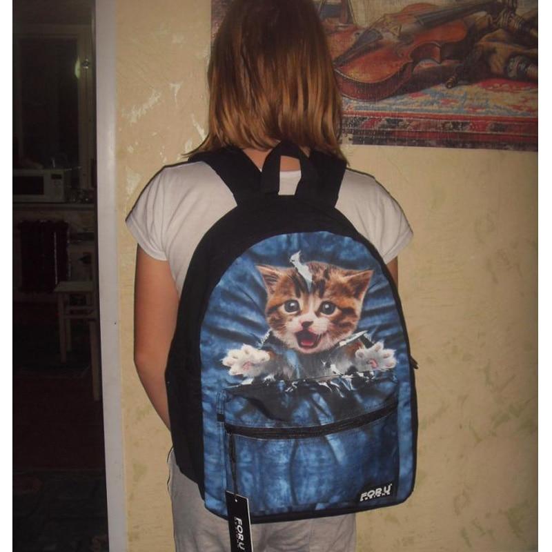 FORUDESIGNS Cat Printing Children Quality School Bags For Kids Boys&Girls Designer Teen Schoolbag Child Book bag Backbag Retail
