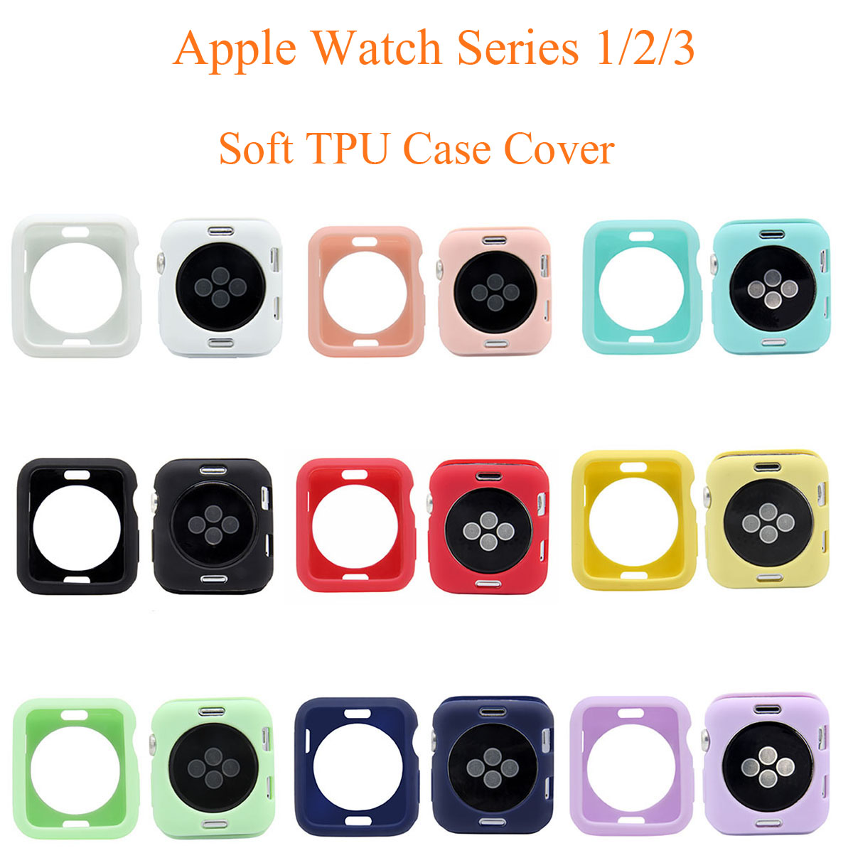 Watch Accessories for Apple Watch Case Series 3 2 1 Ultra-thin Soft TPU Cover for iWatch 42mm 38mm Silicone Case