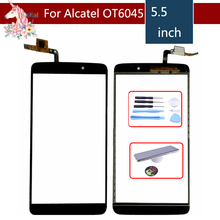 10pcs/lot For Alcatel One Touch Idol 3 6045 OT6045 6045Y touch screen Front Glass Digitizer Panel Sensor Glass Lens Replacement lcd screen display touch panel digitizer with frame for alcatel one touch idol 3 6045 ot6045 black color free shipping