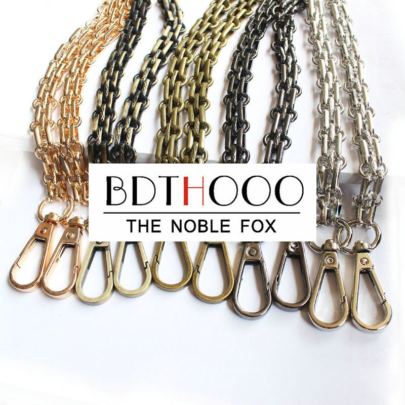 Arts,crafts & Sewing Brand New Metal 60 120cm Handbag Purse Chain Leather Shoulder Bag Crossbody Strap Replacement Repair 2 Clasp Snap Clip 4 Color Easy To Repair