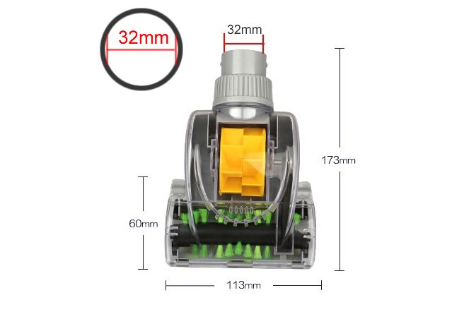 Export quality, Vacuum cleaner Clear mites brush/ suction head,for sofa/bed,inner diameter 32mm,Vacuum cleaner parts vacuum cleaner clear mites brush suction head for sofa bed inner diameter vacuum cleaner parts kit for dyson dc33 dc35 dc44 v6