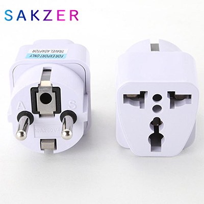 Universal EU GER AU Plug Adapter European Germany Australia Chinese Power Socket White Travel Converter Conversion Plug