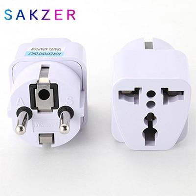 Universal EU GER AU Plug Adapter European Germany Australia Chinese Power Socket White Travel Converter Conversion Plug