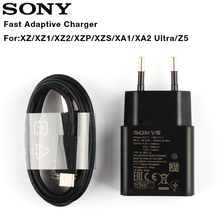 Original Adaptive Travel Fast Charger For Sony Xperia L1 G3312 XA1 Plus Ultra G3116 XA2 X Compact XZs XZ2 Type-C Cable