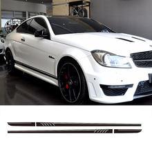 Autocollant de course à rayures en vinyle pour jupe latérale, Style 507, pour Mercedes Benz W204 S204 coupé C63 AMG C180 C200 C230 C280 C300 C320