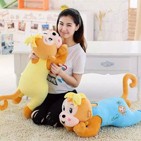 Appease Papa Banana Monkey Plush Toys 60 80cm Stuffed Peek A Boo Playmate Clam Dolls Pillow