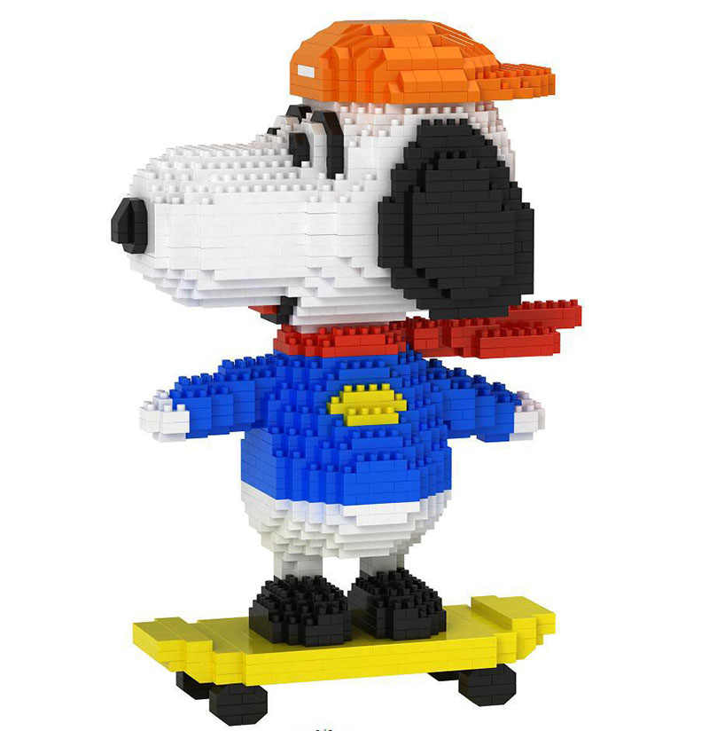 BABU 8822 skate novo design snoopy diamante bloco do brinquedo 2019 brinquedo novo