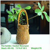 ED original quality design resin artificial bamboo woven baskets Home decoration flowerpots/storage box/garden decoration bonsai