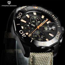 ae263fa2185 PAGANI PROJETO Homens Relógios de Luxo Da Marca À Prova D  Água Militar  Esporte Cronógrafo