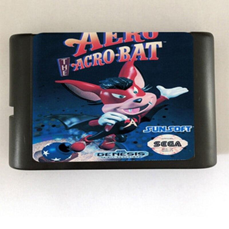 Aero the acro-bat Game Cartridge Newest 16 bit Game Card For Sega Mega Drive / Genesis System