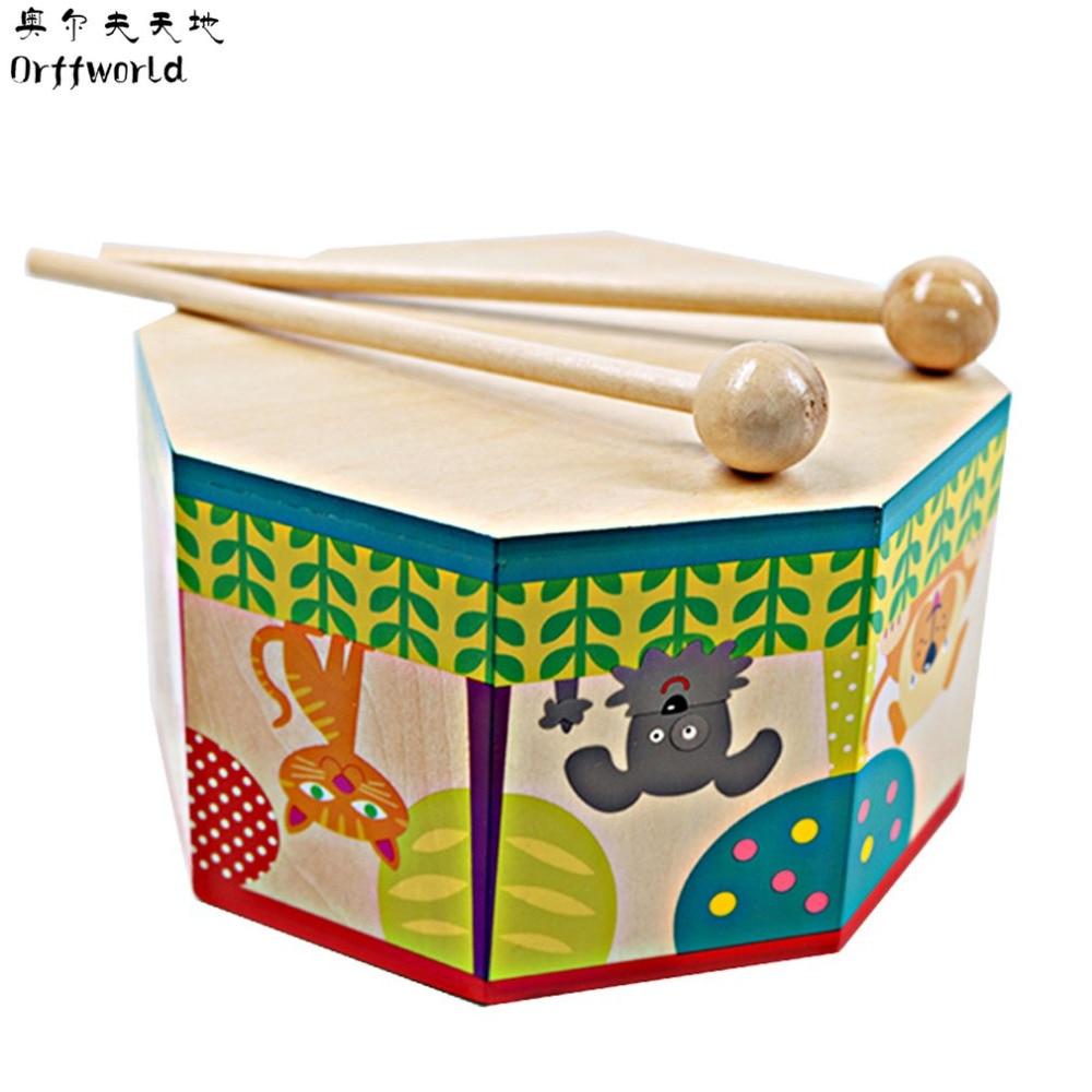 Kinder Holz Trommel Spielzeug Kinder Handtrommel Hand Percussion Spielzeug