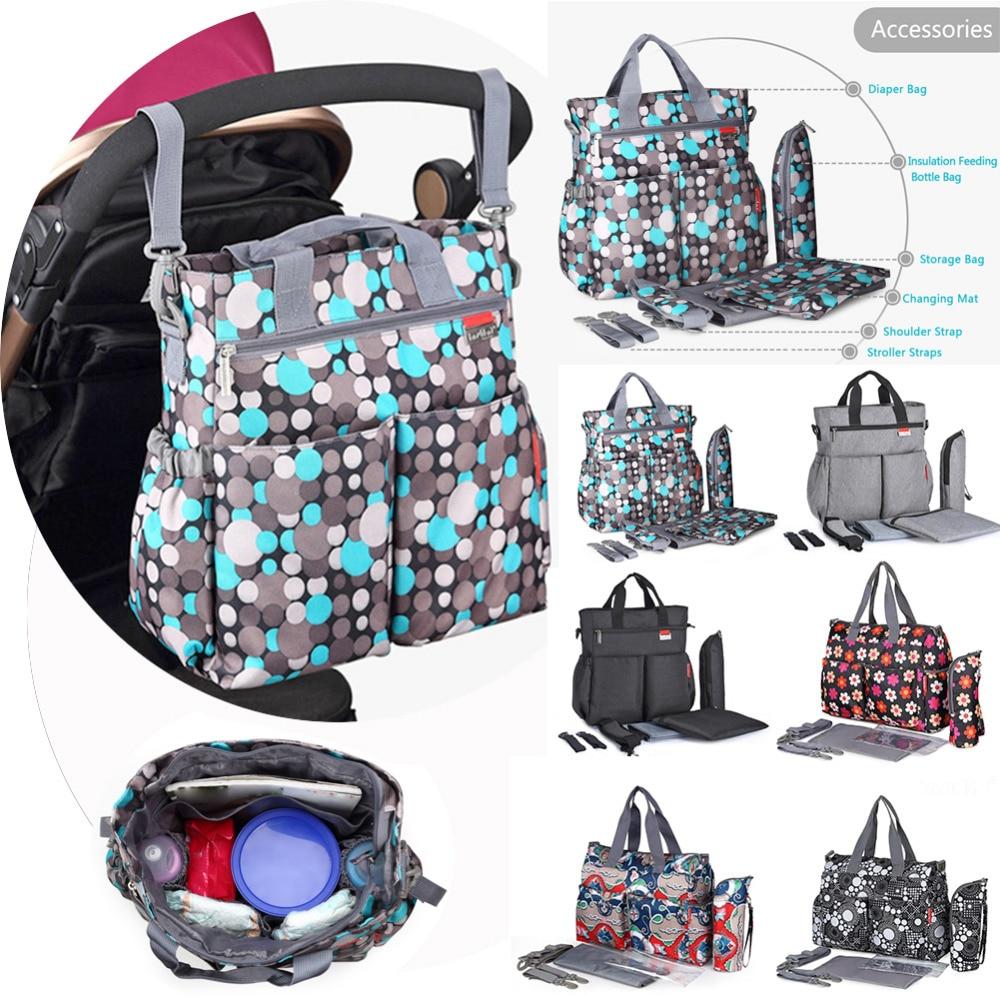 Insular Cartoon Maternity Diaper Handbag Large Capacity Mummy Nursing Shoulder Bag  flower style mom handbag baby stroller bags