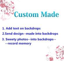 Vinylbds backdrops feito sob encomenda personalize o fundo da fotografia para memórias do casamento e do birtday e ocasião valiosa